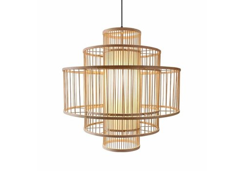 Fine Asianliving Deckenleuchte Pendelleuchte Beleuchtung Bambus Lampenschirm Handgefertigt - Lena D50cm