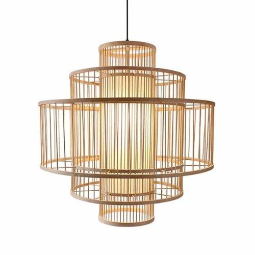 Ceiling Light Bamboo Lampshade Handmade - Lena D50cm