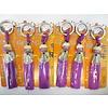 Fine Asianliving Fine Asianliving Lucky Cat Maneki Neko Keychain Purple - Courage & Bravery