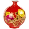 Fine Asianliving Chinese Vase Porcelain Handmade Wheat Straw Red H29.5cm