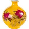 Fine Asianliving Chinesische Vase Porzellan Handgemacht Weizenstroh Gelb H29.5cm