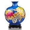 Fine Asianliving Chinesische Vase Porzellan Handgefertigt Pfingstrose Blau H29.5cm