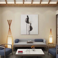 Floor Standing Lamp Bamboo Handmade (L size) - Diana