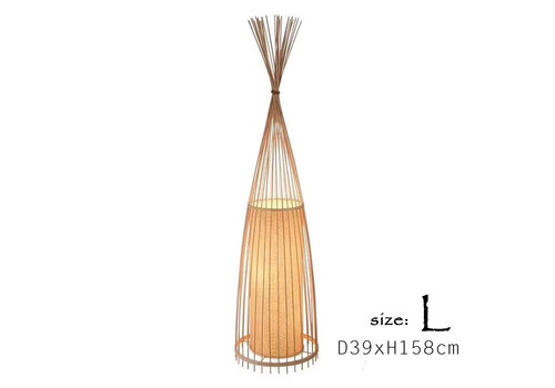 Fine Asianliving Floor Standing Lamp Bamboo Handmade (L size) - Diana