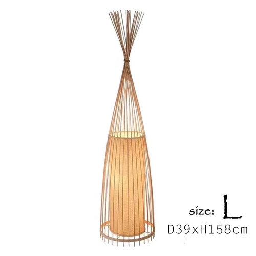 Floor Standing Lamp Bamboo Handmade (L size) - Diana