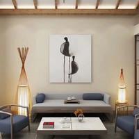 Floor Standing Lamp Bamboo Handmade (M size) - Daisy