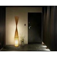 """Fine Asianliving Bamboe Vloerlamp Handgevlochten - """"Daisy"""""""