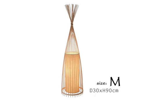 Fine Asianliving Floor Lamp Bamboo Handmade (M size) - Daisy D30xH90cm