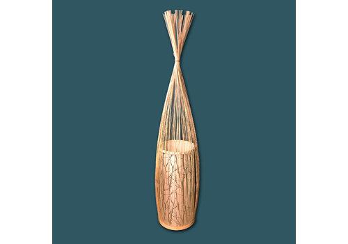 """Fine Asianliving Fine Asianliving Bamboe Vloerlamp Handgevlochten - """"Demi"""""""