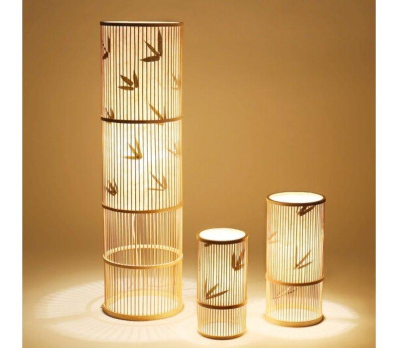 Tafellamp Bamboe Ella D18xH42cm Handgemaakt
