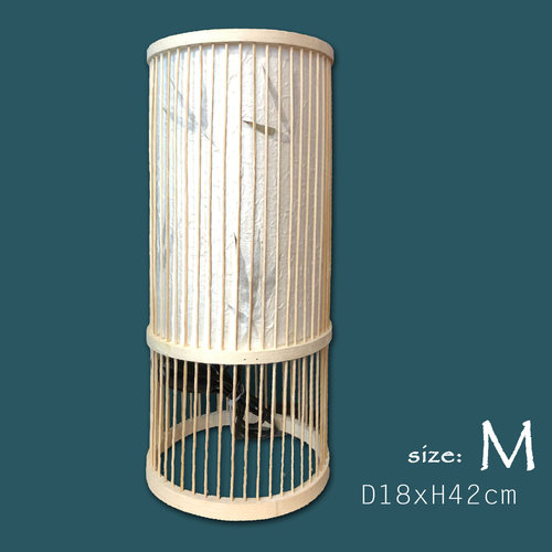 Table Lamp Bamboo Handmade Designed (M size) – Ella