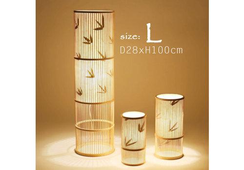 """Fine Asianliving Fine Asianliving Bamboe Vloerlamp Handgevlochten - """"Sylvie"""""""