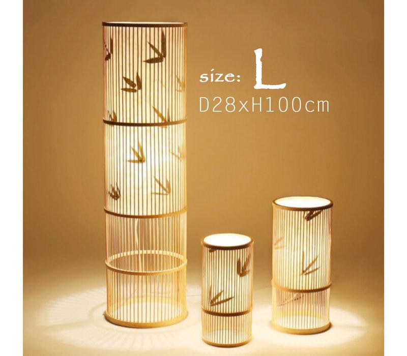 """Fine Asianliving Bamboe Vloerlamp Handgevlochten - """"Sylvie"""""""