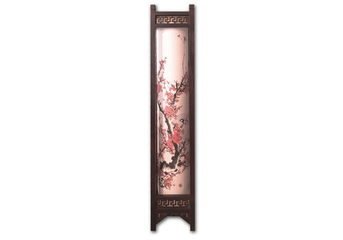 Fine Asianliving Floor Standing Lamp Ricepaper Handmade Chinese Flowers Painting - Sandra