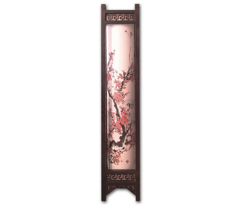 Floor Standing Lamp Ricepaper Handmade Chinese Flowers Painting - Sandra
