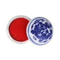 Fine Asianliving Chinese Seal Paste Chinese Calligraphy Stamp Bright Red