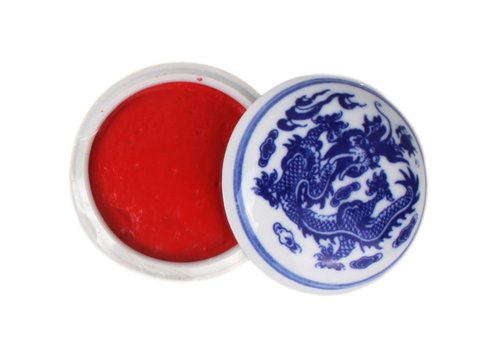 Fine Asianliving Fine Asianliving Chinese Seal Paste Chinese Calligraphy Stamp Bright Red