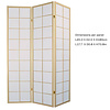 Fine Asianliving Fine Asianliving Japanese Room Divider W135xH180cm Privacy Screen Shoji Rice-paper 3 Panel - 180/N3