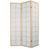Fine Asianliving Japanischer Paravent Raumteiler Trennwand B135xH180cm 3-teilig Shoji Reispapier Naturell
