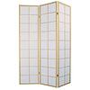 Fine Asianliving Japanse Kamerscherm B135xH180cm 3 Panelen Shoji Rijstpapier Naturel