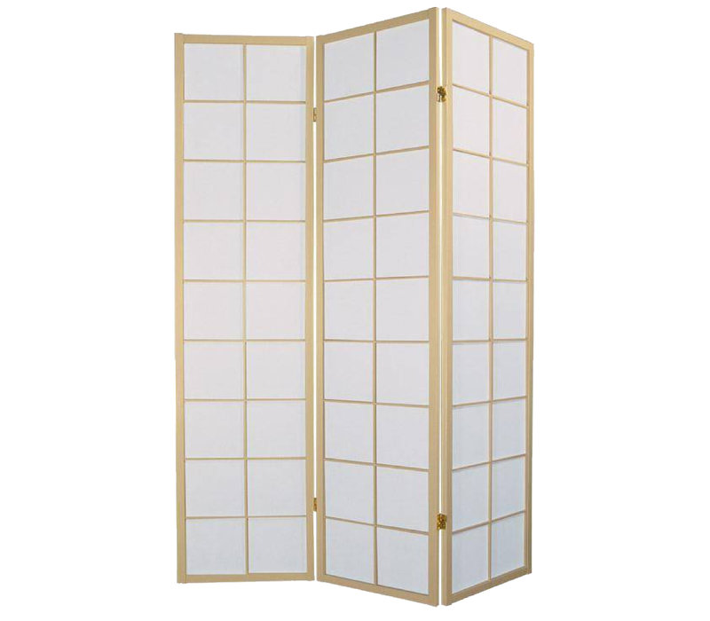 PREORDER 26/11/2020 Fine Asianliving Japanischer Raumteiler L135xH180cm Paravent Shoji Reispapier 180/N3