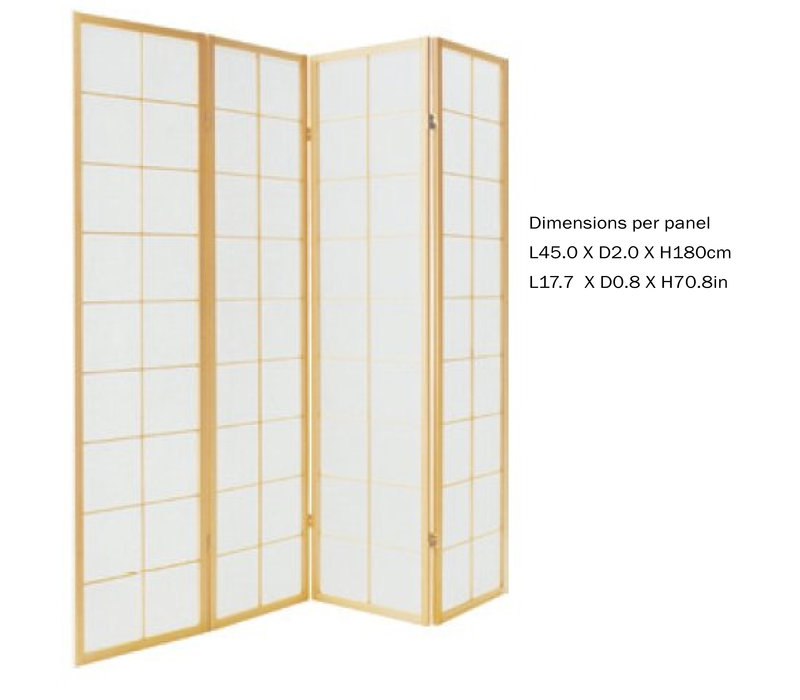 PREORDER 26/11/2020 Fine Asianliving Japanese Room Divider L180xH180cm Privacy Screen Shoji Rice-paper Natural 180/N4