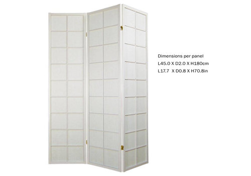Fine Asianliving Fine Asianliving Japanese Room Divider L135xH180cm Privacy Screen Shoji Rice-paper 3 Panel - 180/W3