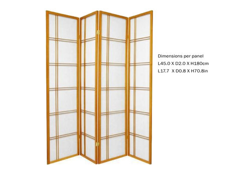 Fine Asianliving Fine Asianliving Japanese Room Divider L180xH180cm Privacy Screen Shoji Rice-paper DCH