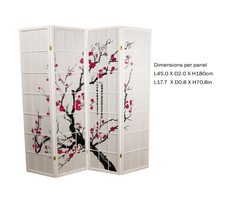 Fine Asianliving Japanese Room Divider L180xH180cm Privacy Screen Shoji Rice-paper - Sakura Cherryblossom