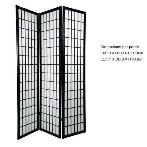 Japanese Room Divider Privacy Screen Rice-paper 3 Panel - TANA/B3