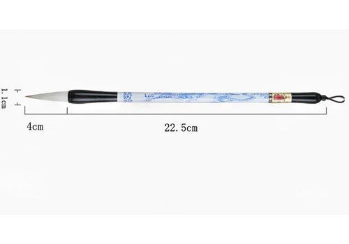 Fine Asianliving Chinese Calligraphy Brush Porcelain Blue-White