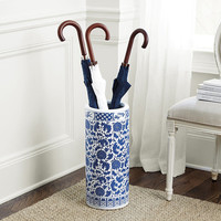 Umbrella Stand Porcelain Blue and White D25xH50cm