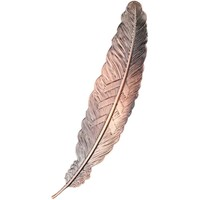 Fine Asianliving Bookmark Feather Metal -  Bronze