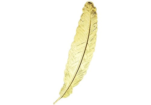 Fine Asianliving Bookmark Feather Metal - Gold