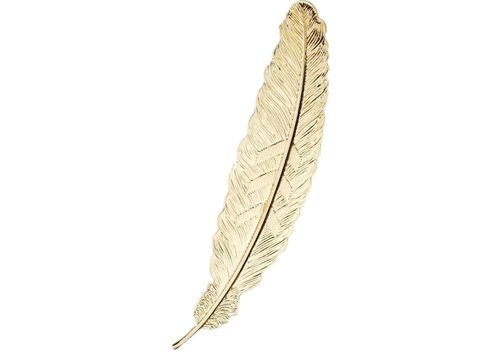 Fine Asianliving Bookmark Feather Metal - Vintage Gold