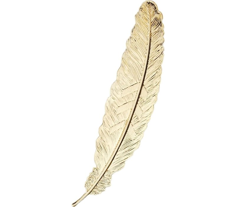 Bookmark Feather Metal - Vintage Gold