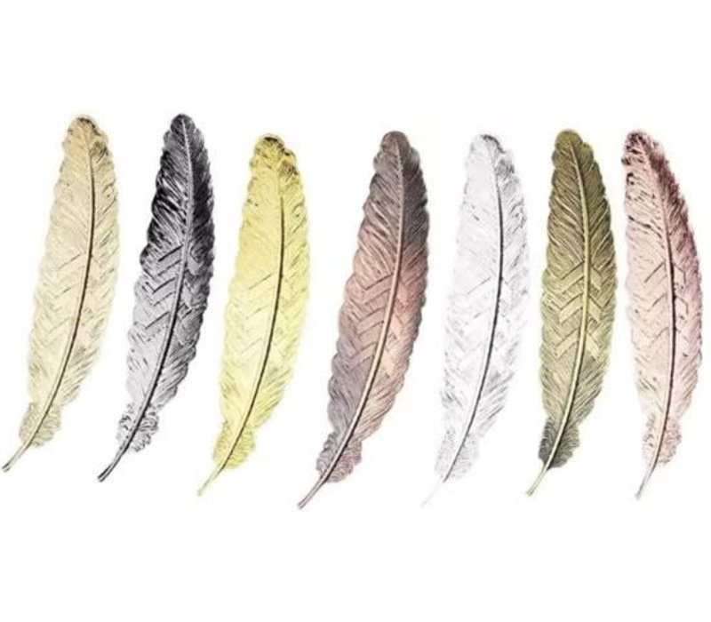 Fine Asianliving Bookmark Feather Metal - Silver