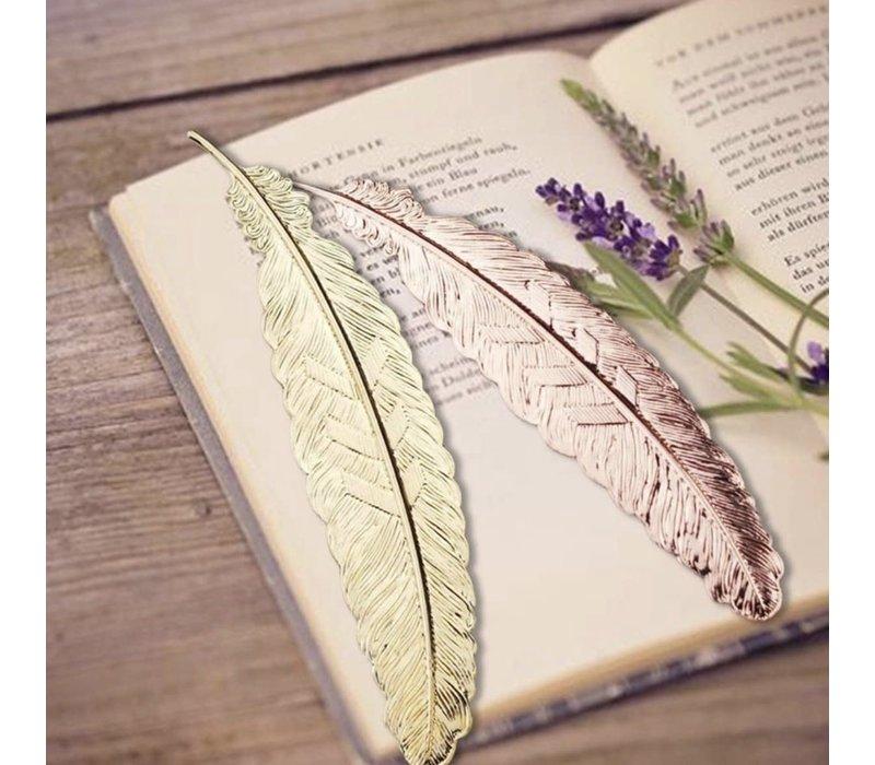 Boekenlegger Veer Metaal - Rose Gold