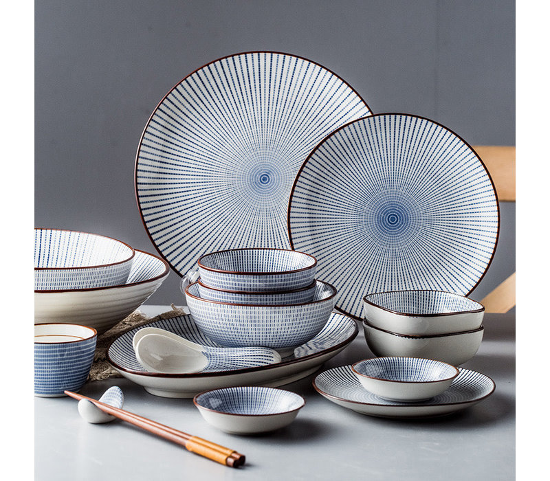 Fine Asianliving Japans Servies Nippon Chigusa Selection - Ovaal Bord 17.5x2cm