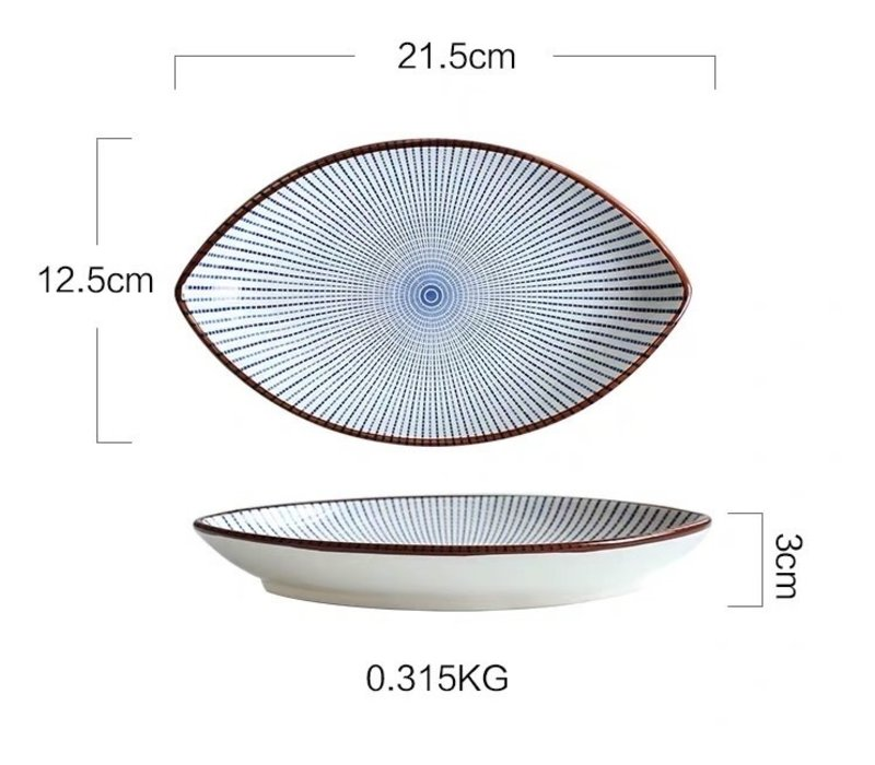 Fine Asianliving Japanese Tableware Nippon Chigusa Selection - Plate 21x3cm