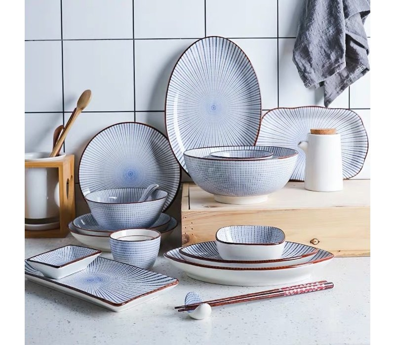 Fine Asianliving Japanese Tableware Set Nippon Chigusa Selection - 30-piece Set 6 Persons