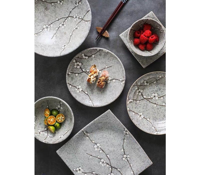 Fine Asianliving Japanese Tableware Soshun Grey Collection - Serving Bowl 20x7cm
