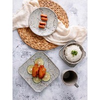 Fine Asianliving Japanese Tableware Soshun Grey Collection - Serving Plate 28.5x3cm