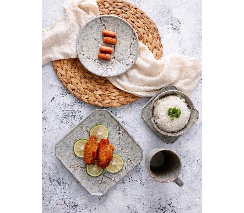 Japans Servies Soshun Grijs Collectie - Serveerschaal 28.5x3cm