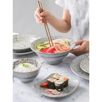 Japanese Tableware Soshun Grey Collection - Serving Plate 28.5x3cm