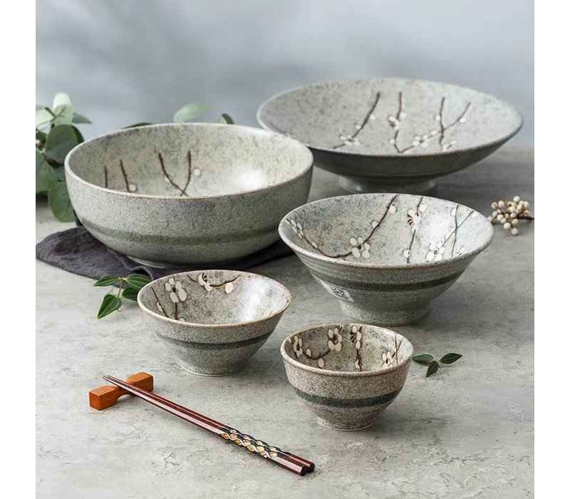 Fine Asianliving Japanese Tableware Soshun Grey Collection - Plate 12.5x2cm