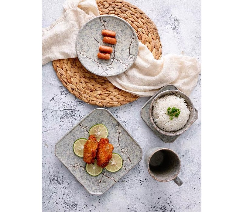 Fine Asianliving Japanese Tableware Soshun Grey Collection - Breakfast Plate 16.5x2cm