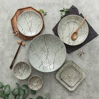 Fine Asianliving Japans Servies Soshun Grey Collection - Ontbijtbord 16.5x2cm
