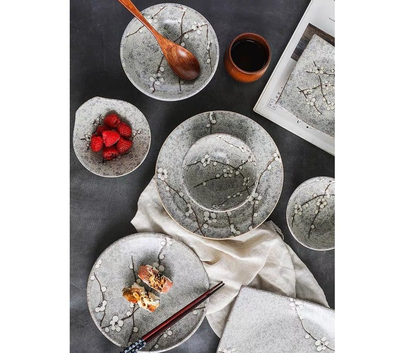 Fine Asianliving Japans Servies Soshun Grey Collection - Ontbijtbord 19x3cm