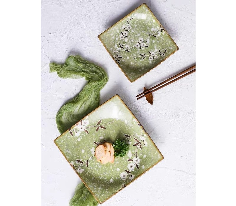Fine Asianliving Japans Servies Soshun Glossy Cosmos Green - Soja Saus Schaaltje 11x4.5cm